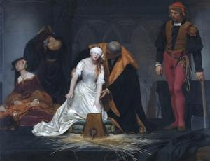 The Execution of Lady Jane Grey in the Tower of London in the Year 1554 by Paul Delaroche