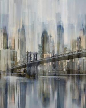 NY Cityscape Hudson River Blur by Paul Duncan