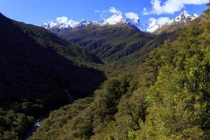 Expansive Landscape on the Road from Te Anau to Milford Sound, New Zealand by Paul Dymond