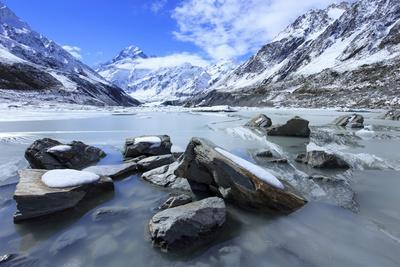 Hooker Valley Glacial Lake, Mt. Cook National Park, South Island, New Zealand