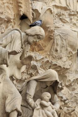 Intricate Carvings on the Nativity Facade of the Sagrada Familia in the Heart of Barcelona, Spain by Paul Dymond