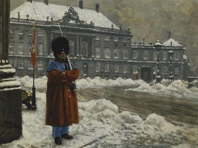 A Royal Life Guard on Duty Outside the Royal Palace Amalienborg, Copenhagen