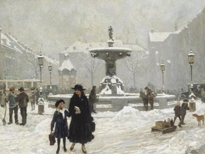 A Winter Day in Gammeltorv, Copenhagen
