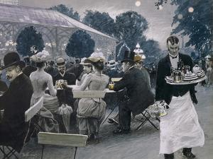 An Evening in the Tivoli Gardens in Copenhagen, 1890 by Paul Fischer