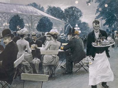 An Evening in the Tivoli Gardens in Copenhagen