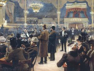 At the Music Hall in the Cirkus Bygningen, Jernbaneegade by Paul Fischer