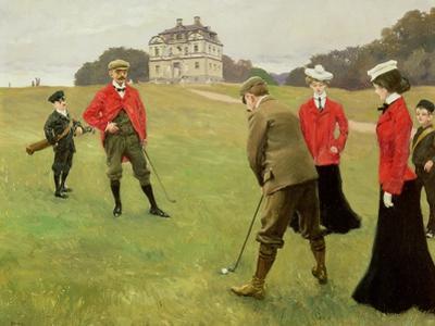 Golf Players at Copenhagen Golf Club