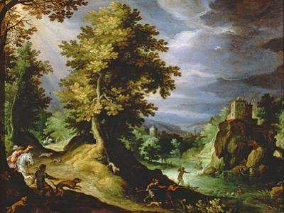 Landscape with a Deer Hunt, 1591