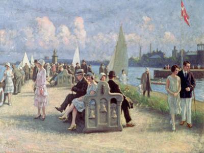 People on a Promenade