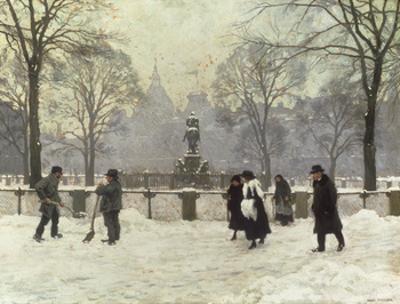 Snow Scene in the Kongens Nytorv, Copenhagen
