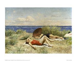 Sunbathing on the Dunes by Paul Fischer