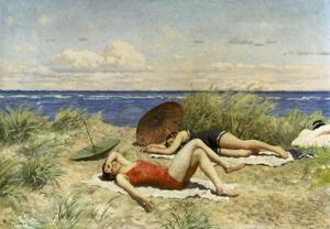 Sunbathing on the Dunes by Paul Fischer