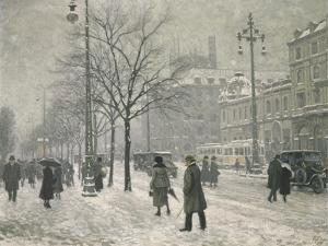 Vesterbro Passage in Copenhagen in Winter, 1919 by Paul Fischer