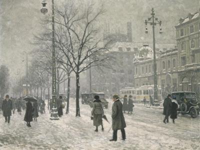 Vesterbro Passage in Copenhagen in Winter, 1919