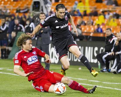 Apr 26, 2014 - MLS: FC Dallas vs D.C. United - Fabian Espindola, Stephen Keel