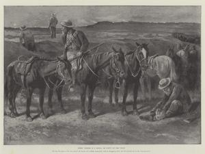 Boers' Horses in a Donga, or Cleft, on the Veldt by Paul Frenzeny
