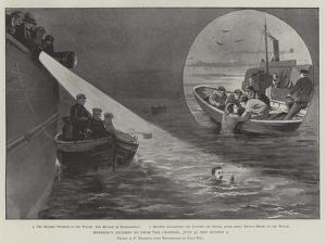 Holbein's Attempt to Swim the Channel, 31 July and 1 August by Paul Frenzeny