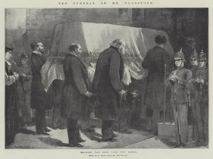 The Funeral of Mr Gladstone, Bearing the Body into the Abbey by Paul Frenzeny