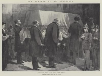 The Funeral of Mr Gladstone, Bearing the Body into the Abbey