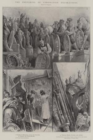 The Preparing of Coronation Decorations