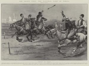 The Shah's Visit, the National Game of Persia by Paul Frenzeny