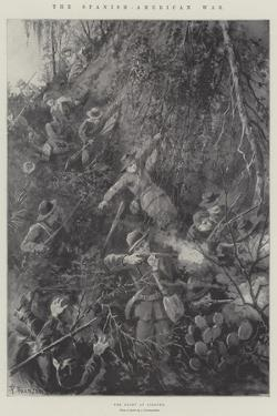 The Spanish-American War, the Fight at Siboney by Paul Frenzeny