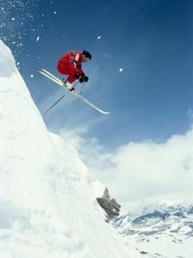 Airborne Alpine Skier, Crested Butte, CO by Paul Gallaher
