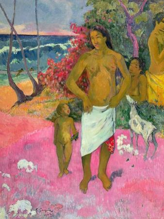 A Walk by the Sea, 1902 by Paul Gauguin