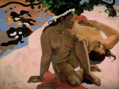 Aha Oe Feii? (Are You Jealous?), 1892 by Paul Gauguin