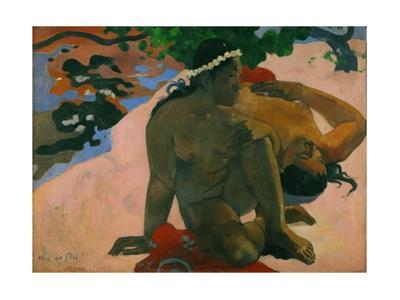 Aha oe feii? - What,you are jealous? Canvas,66 x 89 cm Inv.3269. by Paul Gauguin
