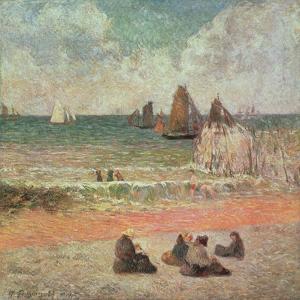 Bathing, Dieppe, 1885 by Paul Gauguin