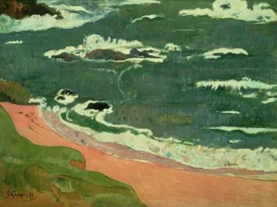 Beach at Le Pouldu, 1889 by Paul Gauguin