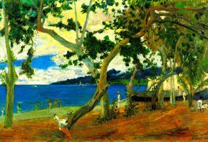 Paul Gauguin Beach Scene 2 Art Print Poster