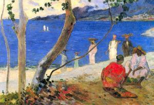 Paul Gauguin Beach Scene Art Print Poster