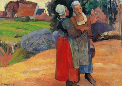 Breton Peasant Women by Paul Gauguin