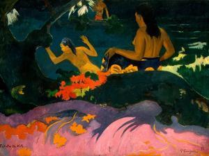 By the Sea (Fatata Te Mit) by Paul Gauguin