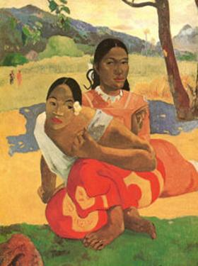 Deux Thaitiennes Accroupiees by Paul Gauguin