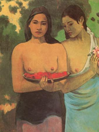 Deux Thaitiennes by Paul Gauguin