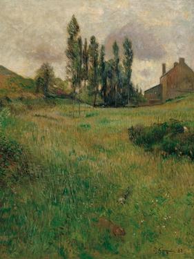 Dogs Running in a Meadow, 1888 by Paul Gauguin