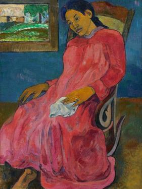 Faaturuma (Melancholi), 1891 by Paul Gauguin