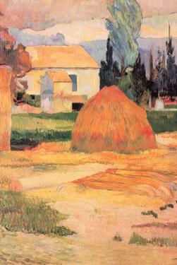 Farmhouses in Arles by Paul Gauguin