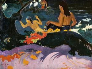 Fatata Te Miti (By the Sea), 1892 by Paul Gauguin