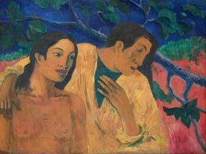 Flight (Tahitian Idyl) by Paul Gauguin