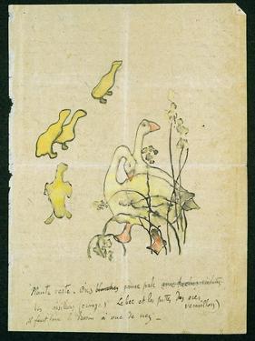 Geese and Goslings by Paul Gauguin