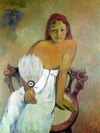 Girl with Fan, 1902 by Paul Gauguin