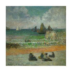 La plage a Dieppe ou les Baigneuses, 1885 The beach at Dieppe, or the bathers. Canvas. by Paul Gauguin