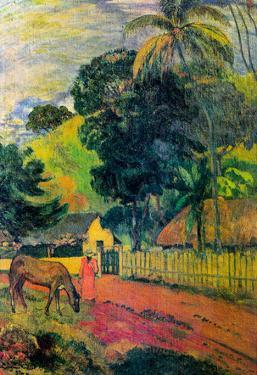 Paul Gauguin Landscape Art Print Poster