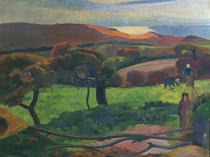 Landscape in Brittany by Paul Gauguin