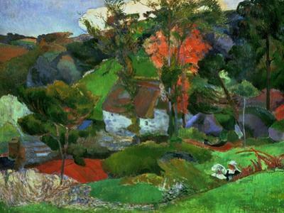 Landscape in Pont-Aven, France by Paul Gauguin