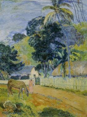 Landscape on Tahiti, 1899 by Paul Gauguin